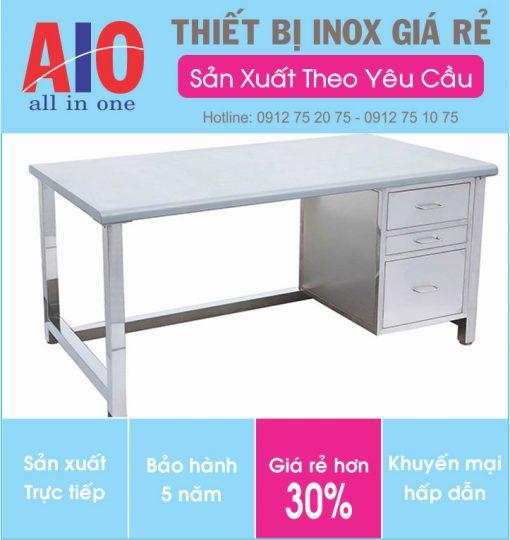 12 ban lam viec inox 510x540 - Bàn làm việc inox dùng trong văn phòng