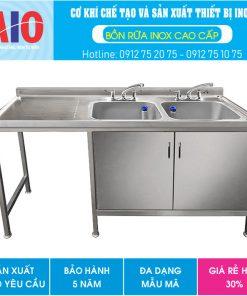 12 tu inox doi co 2 chau rua aiojsc.com  247x296 - Chậu rữa inox công nghiệp