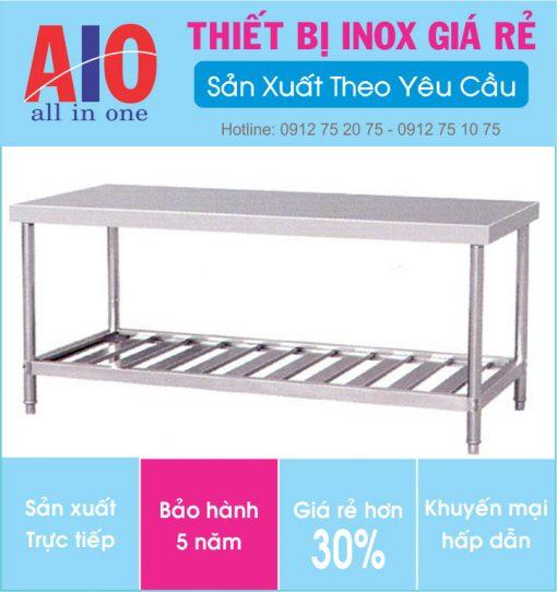 19 ban thao tac inox 510x542 - Bàn thao tác inox dùng trong sản xuất