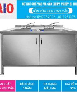 23 tu inox co 2 bon rua aiojsc.com  247x296 - Chậu rữa bát inox công nghiệp