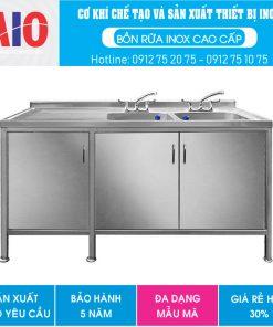 30 tu inox chau rua doi phai aiojsc.com  247x296 - Tủ rửa chén inox 1 chậu 5 ngăn kéo