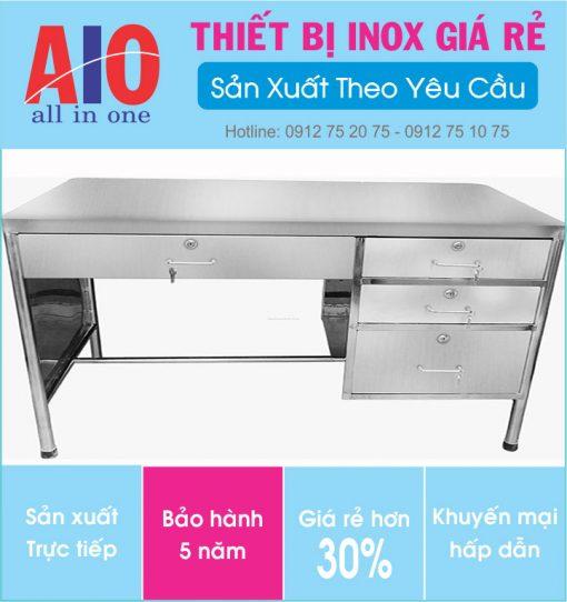 31 ban lam viec inox 510x542 - Bàn làm việc inox