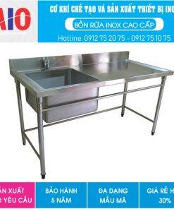 32 chau rua inox co vach ngan aiojsc.com  247x296 - Chậu rữa inox y tế