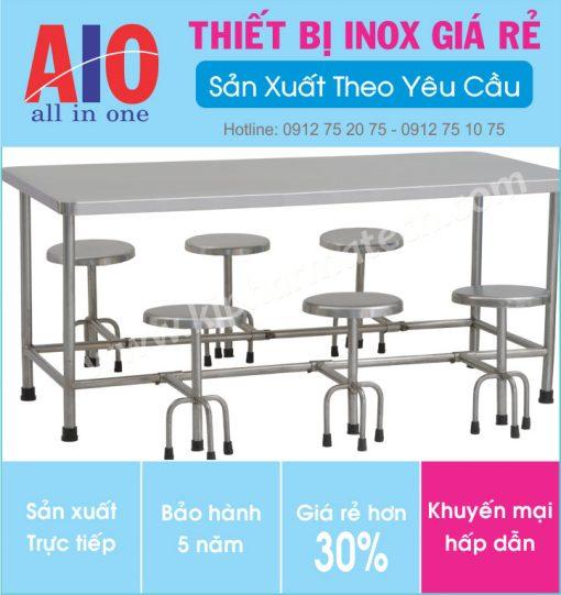 34 ban an inox canteen 510x541 - Bàn ăn inox sân vườn