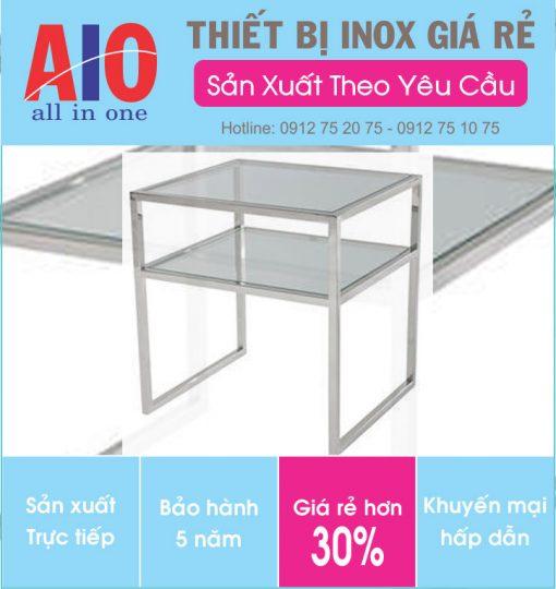 38 ban inox 2 tang 510x540 - Bàn inox vuông 2 tầng