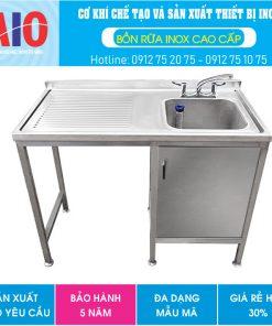 48 tu inox co chau rua va ban aiojsc.com  247x296 - Bàn rửa chén inox có tủ phải