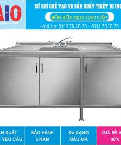 50 tu inox 3 ngan co bon rua aiojsc.com  247x296 - Tủ rửa chén inox 3 ngăn có bồn rữa giữa