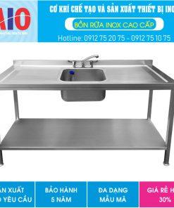 54 ban inox co bon rua giua aiojsc.com  247x296 - Bàn sơ chế có chậu rữa ở giữa
