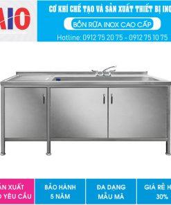 55 tu inox co bon rua don dai aiojsc.com  247x296 - Tủ inox có chậu rữa 2 ngăn