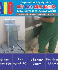 bon rua inox dapchan 247x296 - Bồn rửa tay đạp chân