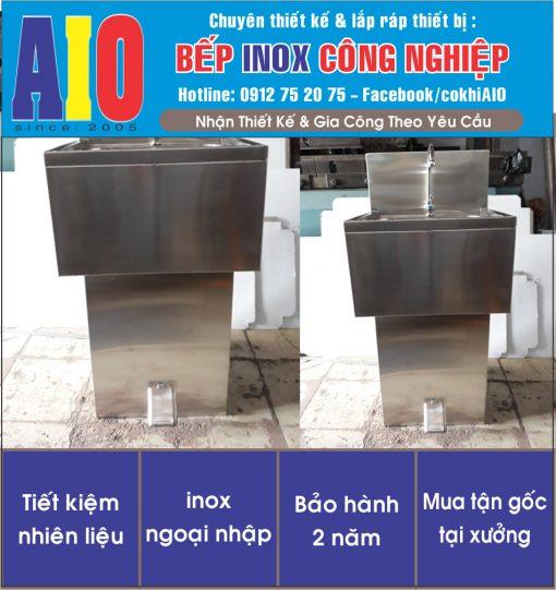bon rua tay dap chan 510x541 - Bồn rửa tay đạp chân