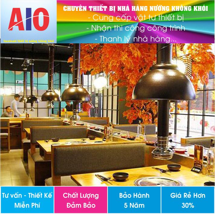 thiet ke nha hang nuong khong khoi - Tư vấn và thiết kế nhà hàng nướng không khói tại quận 2