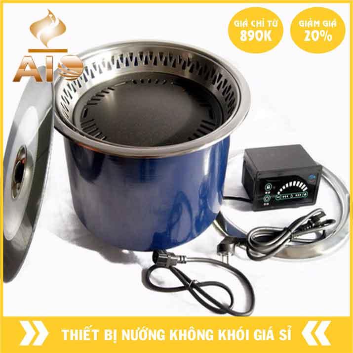 bep nuong am ban dung dien 1 - Bếp nướng âm bàn dùng trong nhà hàng nướng không khói
