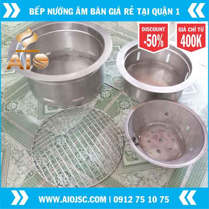 bep nuong am ban inox 304 gia re - Thiết kế nhà hàng nướng không khói giá rẻ tại quận 1