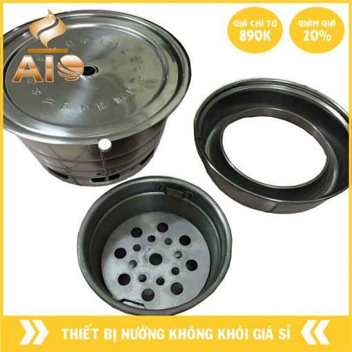 bep nuong than hoa gia re 1 510x509 - Bếp nướng âm bàn dùng trong nhà hàng nướng không khói