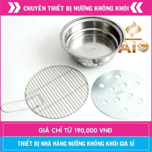 chau than inox 510x510 - Bếp nướng than không khói âm bàn
