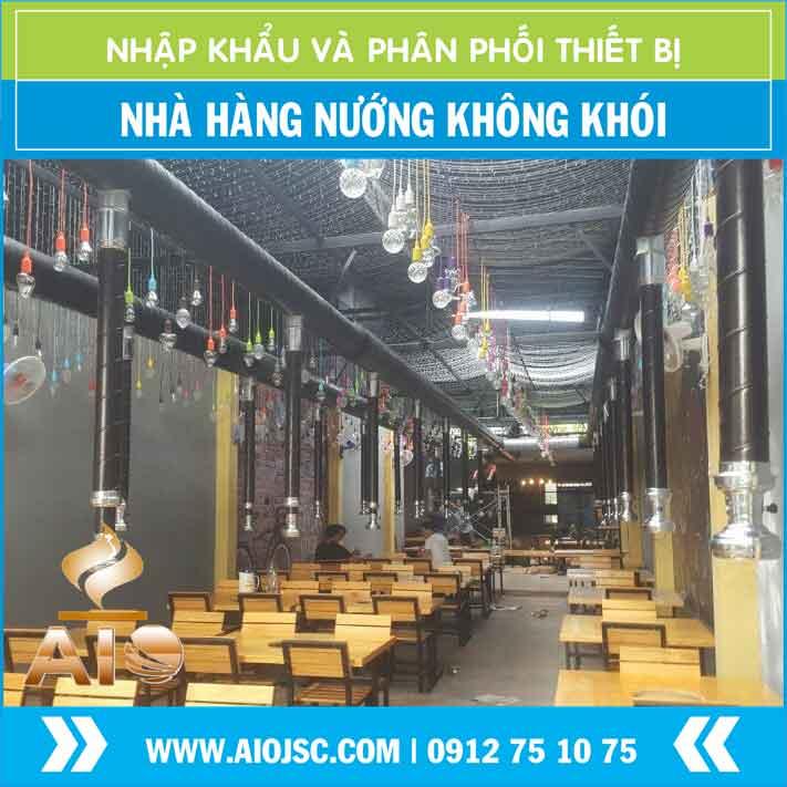 chuyen lam nha hang nuong khong khoi han quoc - Bếp nướng không khói hút dương