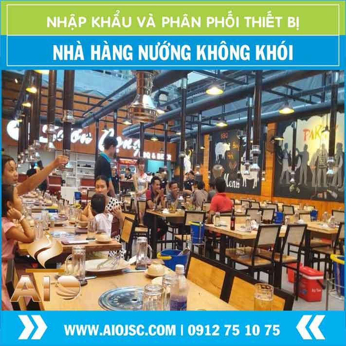 chuyen setup nha hang nuong khong khoi han quoc - Bếp nướng không khói hút dương