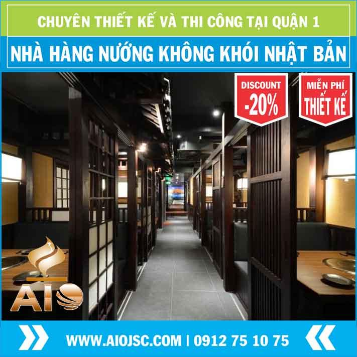nha hang nuong khong khoi nhat ban 1 - Chuyên lắp đặt nhà hàng nướng không khói tại quận 1