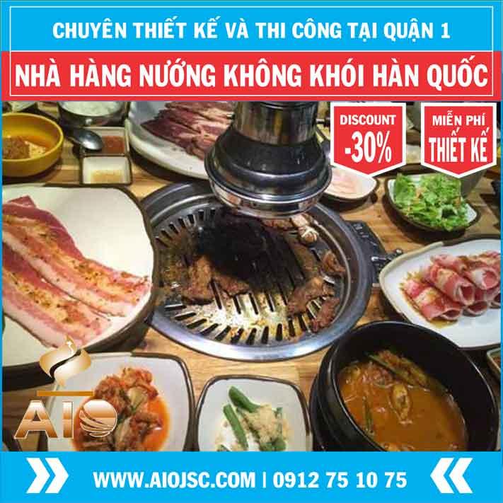 nuong khong khoi han quoc gia re quan 1 aiojsc.com  - Chuyên lắp đặt nhà hàng nướng không khói tại quận 1
