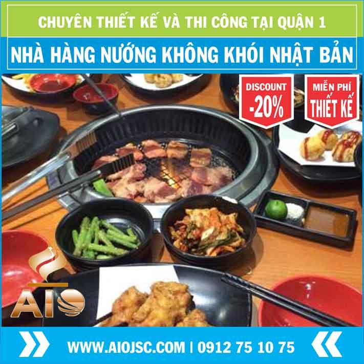 nuong khong khoi kieu nhat quan 1 aiojsc.com  - Chuyên lắp đặt nhà hàng nướng không khói tại quận 1
