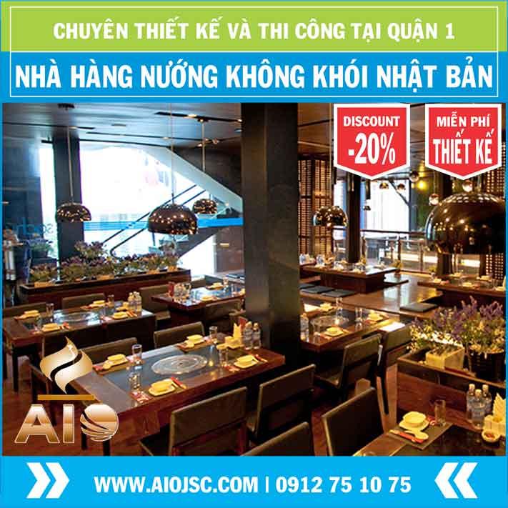 thi cong nha hang nuong khong khoi quan 1 - Chuyên lắp đặt nhà hàng nướng không khói tại quận 1