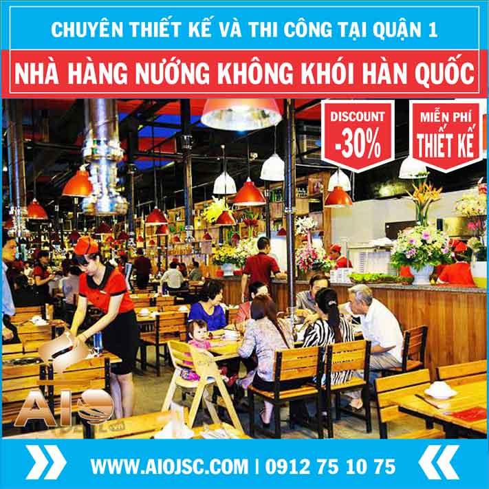 thiet ke nha hang nuong khong khoi han quoc quan 1 aiojsc.com  - Chuyên lắp đặt nhà hàng nướng không khói tại quận 1