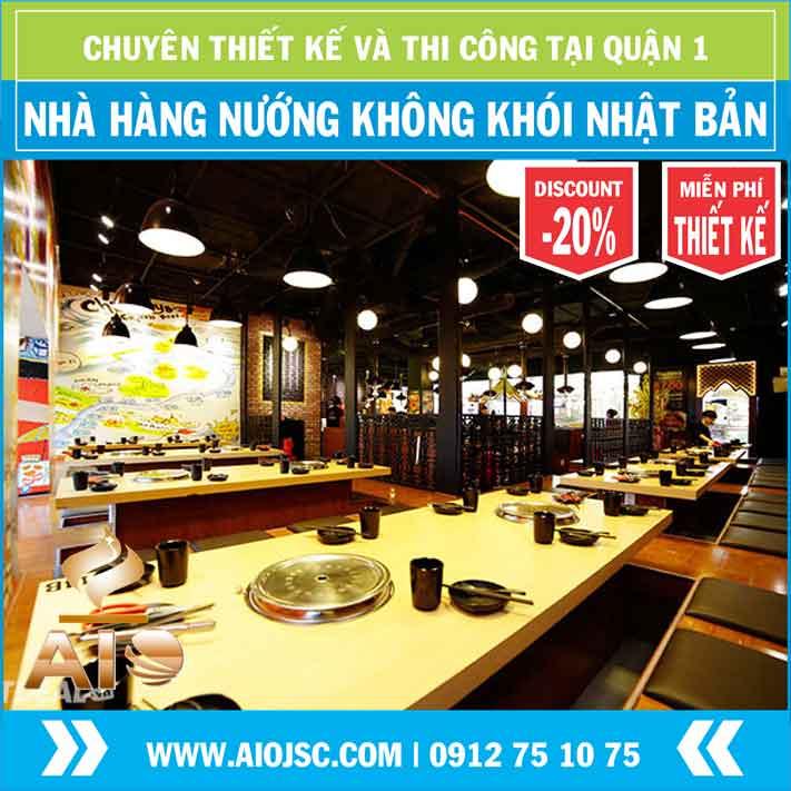 thiet ke nha hang nuong nhat ban - Chuyên lắp đặt nhà hàng nướng không khói tại quận 1