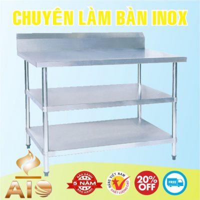 ban inox 2 tang 400x400 - Bàn chế biến thực phẩm inox