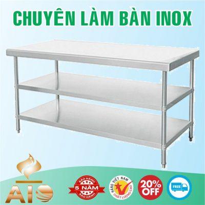 ban inox 3 tang 1 400x400 - Bàn chế biến thực phẩm inox