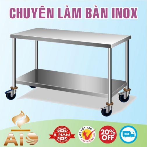 ban inox banh xe 1 505x505 - Bàn ghế dính liền inox