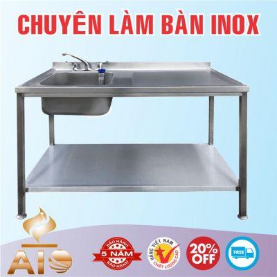 ban inox co chau rua 400x400 - Bàn chế biến thực phẩm inox