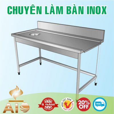 ban inox co lo 400x400 - Bàn chế biến thực phẩm inox