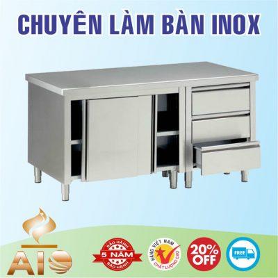 ban inox co tu 400x400 - Bàn chế biến thực phẩm inox
