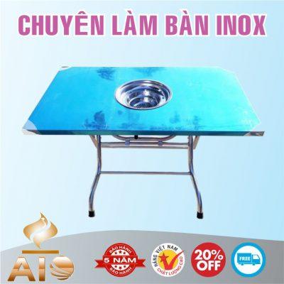 ban inox de bep am ban 400x400 - Bàn chế biến thực phẩm inox