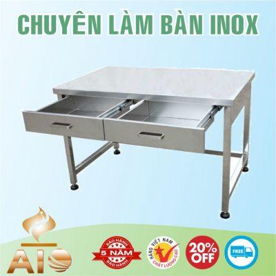 ban inox lam viec 400x400 - Bàn chế biến thực phẩm inox