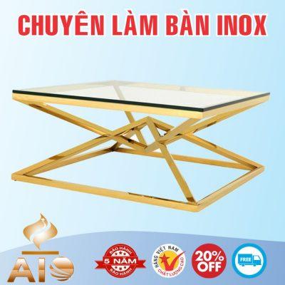 ban inox ma vang 400x400 - Bàn chế biến thực phẩm inox