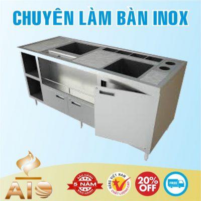 ban inox quay bar 400x400 - Bàn chế biến thực phẩm inox
