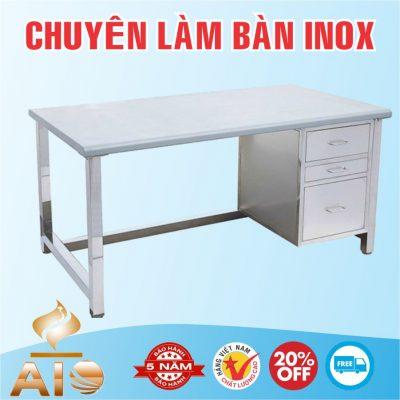 ban lam viec inox 400x400 - Bàn inox có kệ dưới