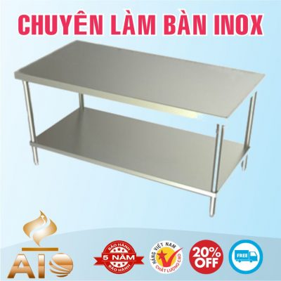 ban so che inox 400x400 - Bàn chế biến thực phẩm inox