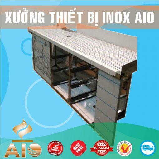 quay ban hang inox 510x510 - Tủ bán cà phê inox