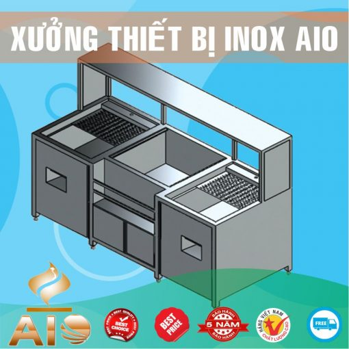 quay bar inox 510x510 - Tủ bán hải sản inox
