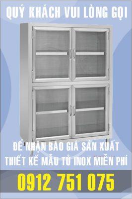 tu 2 tang inox 266x400 - Tủ giường bệnh inox