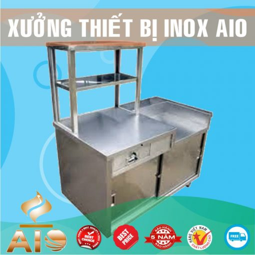 tu ban thuc pham inox 510x510 - Tủ bán phở inox