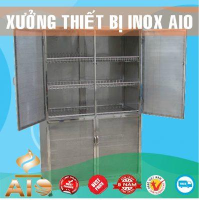 tu dung chen bat inox 397x400 - Tủ giường bệnh inox