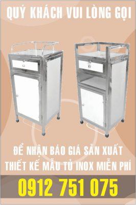 tu giuong benh inox 266x400 - Tủ bar inox