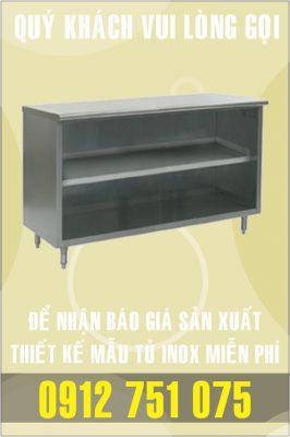 tu inox 2 ngan dai 266x400 - Tủ bar inox