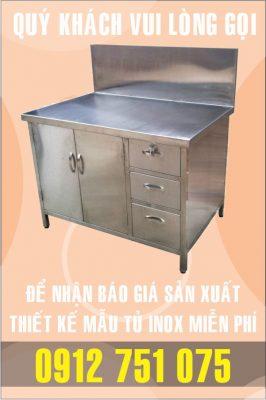 tu inox co vach ngan 266x400 - Tủ inox nhà bếp