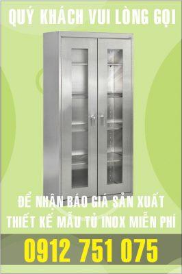 tu inox phong khach 266x400 - Tủ giường bệnh inox