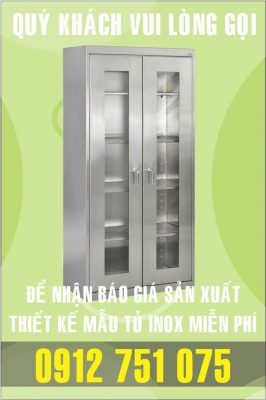 tu inox phong khach 266x400 - Tủ bar inox